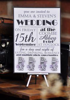 vintage camera themed wedding - Google Search