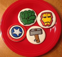 Avenger Cookies: Here is a collaborative effort between myself and another local artist. Turned out better than I thought!!!