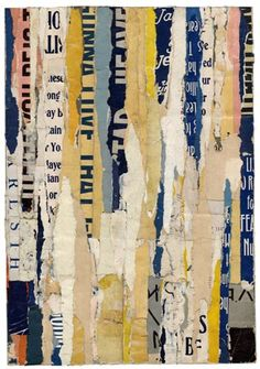 collage by Lisa Hochstein. Simple and beautiful.