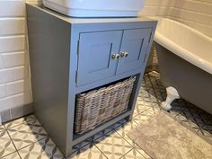 Painted solid pine or oak wood sink unit with storage. Pine Furniture, Solid Wood Furniture, Bathroom Sink Units, Wood Sink, Crafts Beautiful, Solid Pine, Furniture Companies, Plank, Filing Cabinet