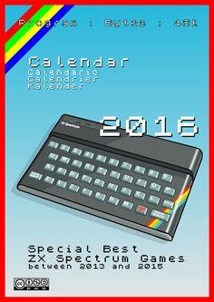 Calendar 2016 - Special Best ZX Spectrum Games Spectrum, Periodic Table, Calendar, Games, Books, Hacks, Calculator, Periodic Table Chart, Libros