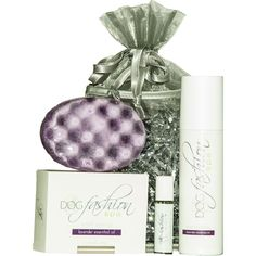 Treat your pet to a luxurious spa day with the Essential Oils Dog Gift Set in Lavender!
