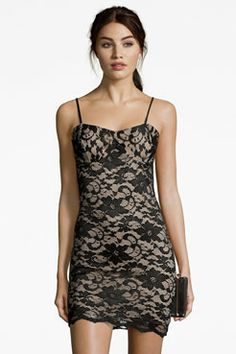 Taylor Lace Strappy Bodycon Dress at boohoo.com