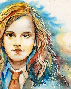 Hermione Canvas Print featuring the painting Hermione by Alina Kurbiel Print, Stretch Canvas, Fine Art, Got Print, Canvas Prints, Canvas Material, Art, Canvas Art, Harry Potter Artwork