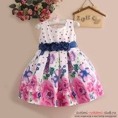 Как сшить летнее платье для девочки собственными руками