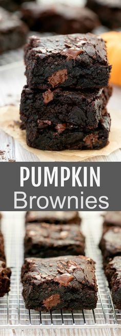 healthier chocolate brownies pumpkin eggless amazing recipe makes fudgy moist super puree bowl easy this Pumpkin Brownies Super fudgy moist chocolate brownies This easy eggless one bowl recipe makes tYou can find Pumpkin recipes and more on our website Cookie Dough Cake, Chocolate Chip Cookie Dough, Chocolate Brownies, Moist Brownies, Chocolate Chocolate, Brownie Cookies, Chocolate Pumpkin Cake, One Bowl Brownies, Baking Brownies