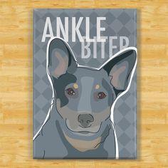 Heeler Magnet - Ankle Biter - Blue Heeler | Pop Doggie
