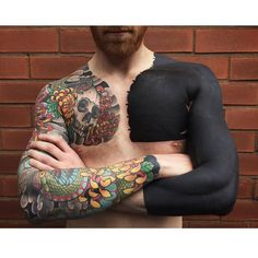 e73768898 Solid Black Tattoo, Black Sleeve Tattoo, Black Ink Tattoos, Top Tattoos,  Badass
