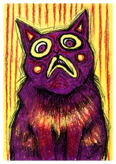 The Emotional Cats is a pastel drawing series, where I highlight the feelings and emotions of cats using bright colors and strong contour.The Emotional Cats could be seen at Tartu Werner cafe from July to November of my Emotional Cats are for… Red Cat, Blue Cats, Young Art, Johannes Vermeer, Dutch Painters, Feelings And Emotions, Pastel Drawing, Grumpy Cat, Cat Gifts