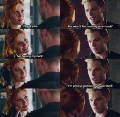 """Of Men and Angels"" - Clary and Jace Clary Fray, Clary Et Jace, Shadowhunters Tv Show, Shadowhunters The Mortal Instruments, Jace Lightwood, Immortal Instruments, Cassie Clare, Cassandra Clare Books, The Dark Artifices"