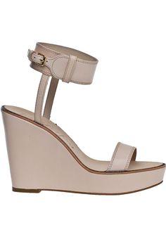 Elizabeth & James Brit Wedge Sandal Natural Leather - Jildor Shoes