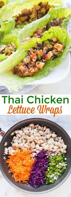 Healthy food has never tasted so AMAZING! These Thai chicken lettuce wraps are bursting with bold flavor, and fresh ingredients. #healthy #lettucewraps #chicken #thai via @betrfromscratch