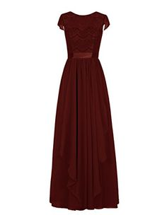 46c81b37d158 Tidetell 2016 Women s Long Bridesmaid Dress Jewel Cap Sleeve Lace Prom  Evening Gown Navy Size 26W at Amazon Women s Clothing store