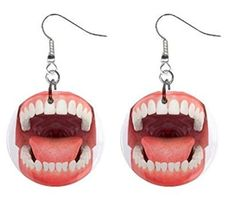 Open Mouth Dentist Dental Hygienist Dangle Earrings Jewelry 1 inch Buttons 12197130 by Blue Skies Plus -- Awesome products selected by Anna Churchill Poor Children, Dental Hygienist, Blue Skies, Teething, Program Design, Churchill, Creepy, Dangle Earrings