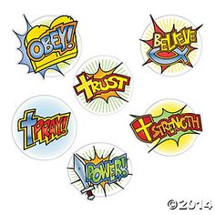 bible superhero decorations | Superhero Faith Cutouts