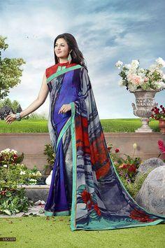 Beautiful Divyanka Tripathi Georgette Saree