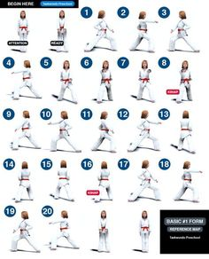 Koryo Poomse Map 1st Dan | Taekwondo Preschool | Martial Arts ...