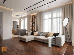 Фото: Гостиная - Квартира в стиле минимализм, ЖК «Смольный парк», 103 кв.м.