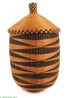 Tutsi Lidded Basket Rwanda Burundi African