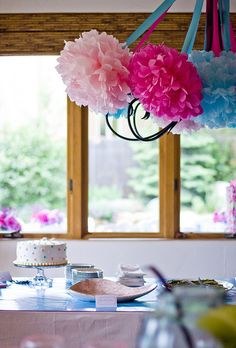 Pink and Teal Bridal Shower