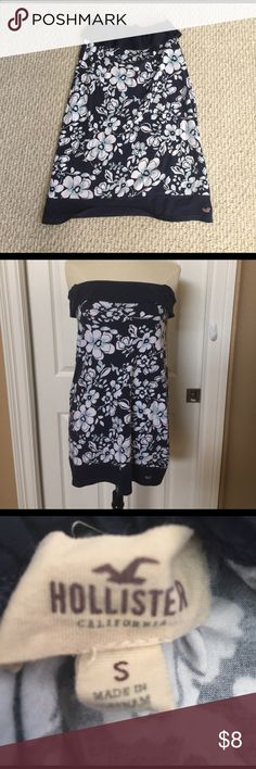 ❤️ Hollister Floral Print Strapless Dress Hollister Floral print, Strapless tube dress, size small Hollister Dresses Strapless