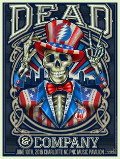 The Grateful Dead started a huge skeleton craze years ago and their pics are BADASS! Grateful Dead Tattoo, Grateful Dead Skull, Grateful Dead Poster, Rock Posters, Band Posters, Music Posters, Anubis, Screen Print Poster, Poster Prints