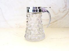 Fostoria American Syrup Pitcher Drip-cut by SentimentalVintager