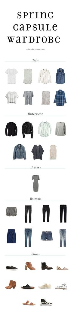The Capsule Wardrobe: How to Reduce Your Closet to 37 Pieces Capsule Wardrobe Unfancy 39 pieces – 8 shirts, 8 bottoms, 7 jackets, 1 dress, 10 shoes Capsule Wardrobe, New Wardrobe, Wardrobe Basics, Spring Summer Fashion, Spring Outfits, How To Have Style, Fashion Capsule, Minimalist Wardrobe, Minimalist Jewelry