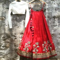 The Stylish And Elegant Lehenga Choli In Red Colour Looks Stunning And Gorgeous With Trendy And Fashionable Embroidery . The Taffeta Fabric Party Wear Lehenga Choli Looks Extremely Attractive And Can . Red Lehenga, Party Wear Lehenga, Indian Lehenga, Lehenga Choli, Lehenga White, Sabyasachi, Bridal Lehenga, Indian Wedding Outfits, Bridal Outfits
