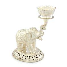 White Elephant holding Lotus as in Queen Maya's dream portending birth of her son the Buddha (Shakyamuni).