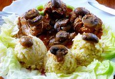 Tárkonyos nyúlpaprikás Cauliflower, Paleo, Meat, Chicken, Vegetables, Food, Cauliflowers, Essen, Beach Wrap