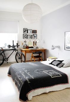 Bike Storage | Gallery Wall | Artistic Style | Teen Bedroom | Modern Furniture | Small Rooms | Interior Design