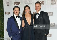 """Milo Ventimiglia, Mandy Moore, & Justin Hartley """"This is Us"""" Justin Hartley, Milo Ventimiglia, Mandy Moore, Golden Globes, This Is Us, Movie Tv, It Cast, Studio, Movie Posters"""