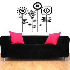 WallStar Graphics // Retro Flowers Wall Decal
