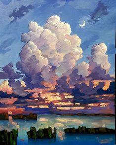 Painting Inspiration, Art Inspo, Oil On Canvas, Canvas Art, Cool Doodles, Painting Process, Painting Art, Paintings, Impressionist Art