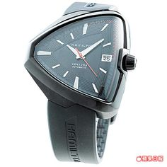 HAMILTON Ventura Elvis80黑色PVD自動腕錶,具80小時動力儲存功能。4萬6300元