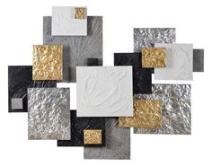 Enjoy the edgy elegance of the Renwil Warberry Irregular Wall Sculpture . This spectacular modern artwork features overlapping square with gleaming metallic. Modern Artwork, Modern Wall Decor, Metal Wall Decor, Geometric Wall Art, Diy Wall Art, Wall Décor, Metal Walls, Art Decor, Home Decor