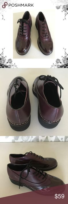 """Marc Fisher Ltd Veyton Oxblood Oxfords New without box, sample sale Oxfords. Heel Height is approx 1 1/2"""". Platform Height is approx 1/2"""". Front Lace closure. Leather and manmade materials. Suede upper. Bundle for discounts! Thank you for shopping my closet! Marc Fisher Shoes"""