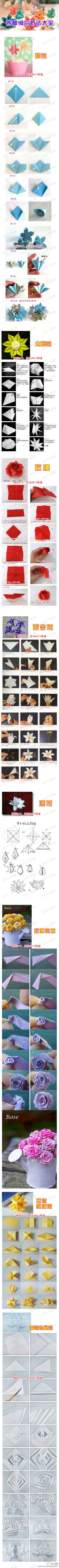 several paper flower tutes