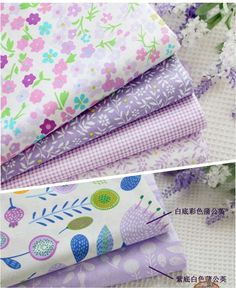 """7 unids 50 cm * 40 cm """" Romantic purple """" de alto grado de la tela de algodón para Quilting Patchwork tejido muñeca Tilda paño, los niños del lecho textil"""