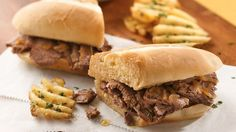 With four ingredients and slow cooker preparation, this beefy sandwich filling couldn't be easier!