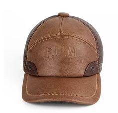 2018 nuevo invierno primavera caliente hombres sombrero de cuero genuino de  piel de vaca gorras 3 88171915d8a