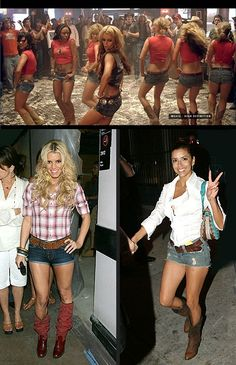 "Daisy Dukes and tall boots were very trendy in 2008. This trend was made popular by Jessica Simpson in her music video ""These Boots Are Made For Walking"". This trend brought back western style clothing. Everyone wore cowboy boots and western hats. Western country style was in style before and now it was brought back. Daisy Dukes were considered to be the ""California girl"" look that teen girls from all over found appealing."
