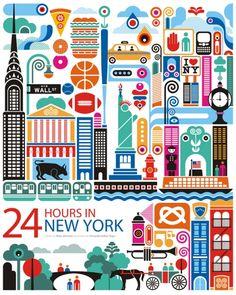 NY: World City Illustration by Fernando Volken Togni