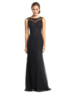 TS Couture Formal Evening Dress - Black Trumpet/Mermaid Scoop Floor-length Tulle / Sequined - USD $107.89