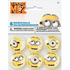 Despicable Me Bounce Balls, 6ct