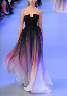 Women Long Chiffon Gradient Prom Dress Floor Length Party Evening Gowns on Luulla