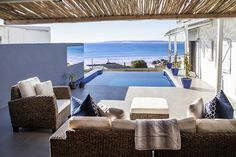 It's flower season in the West Coast, all the more reason to venture to one of its seaside towns – specifically, to the Abalone Pool Villas in Paternoster. Seaside Towns, Outdoor Furniture Sets, Outdoor Decor, Wind Chimes, Cosy, Backdrops, Spa, Home And Garden, Patio