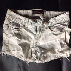 Jean shorts (must bundle) Very light very worn as extremely light stain jean shorts Shorts Jean Shorts