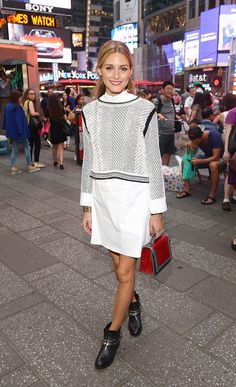 Olivia Palermo's Ankle Boots Will Make Your Outfit Instantly Cooler via @WhoWhatWear